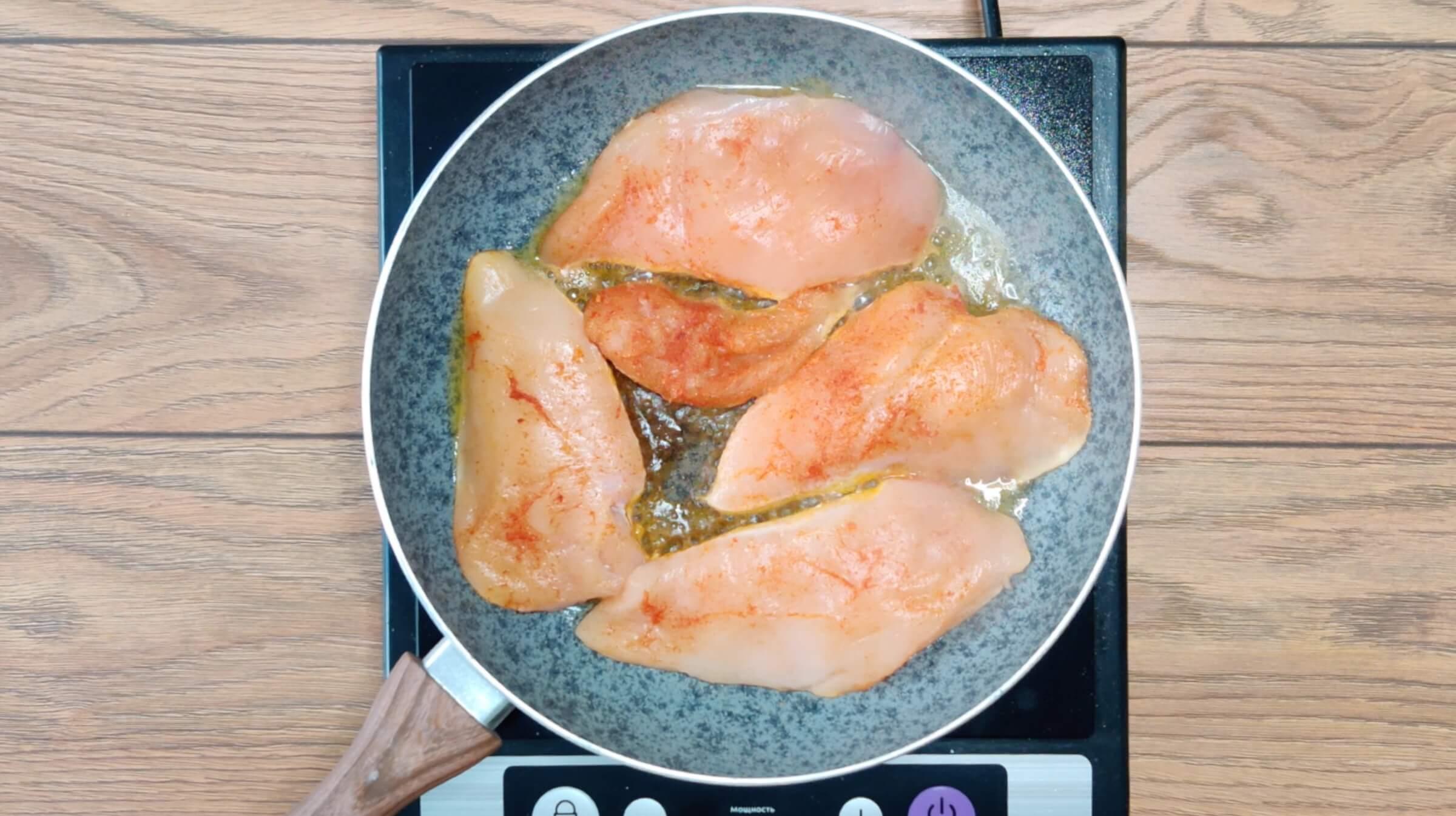 Куриное филе в лимонно-сливочном соусе